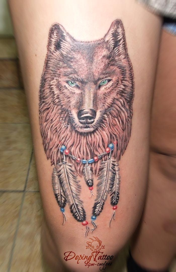 Волк (эскиз не мой)