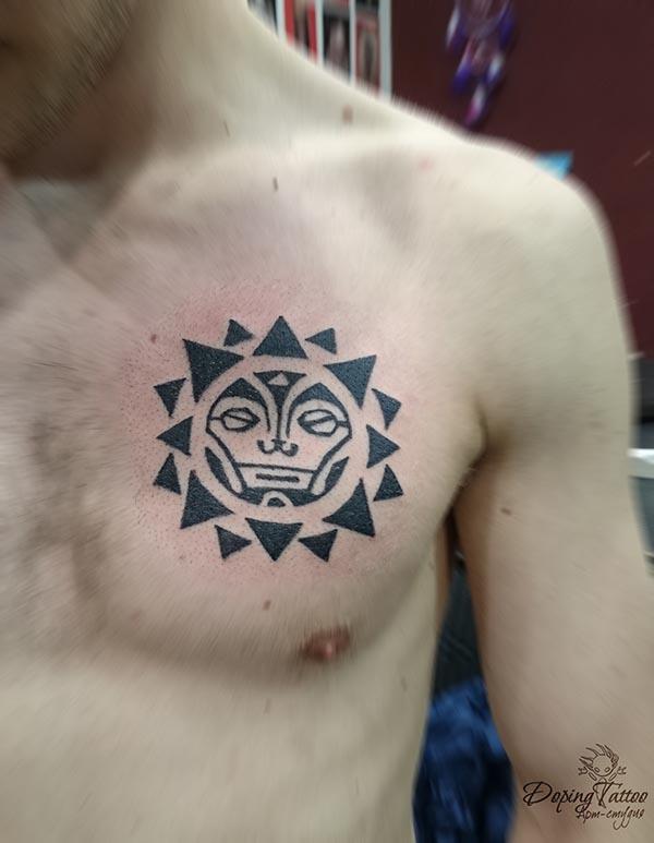 Солнце маори (эскиз не мой)